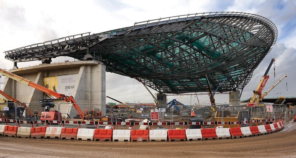 Steel Structure Of Zaha Hadid S Aquatics Centre