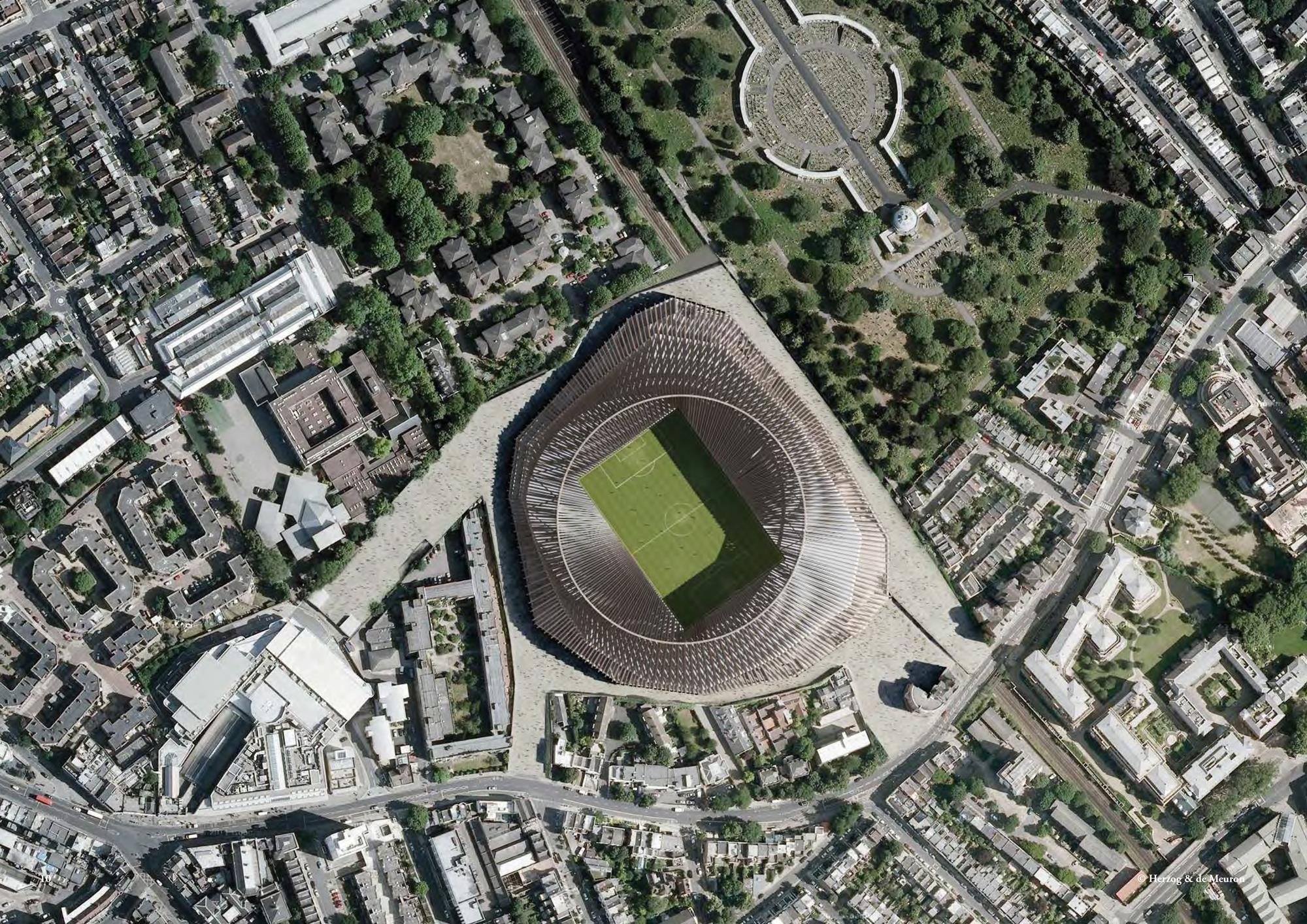 Education stadia and arenas sports and leisure healthcare residential - Khan Green Lights Herzog De Meuron S Chelsea Stadium News Building Design