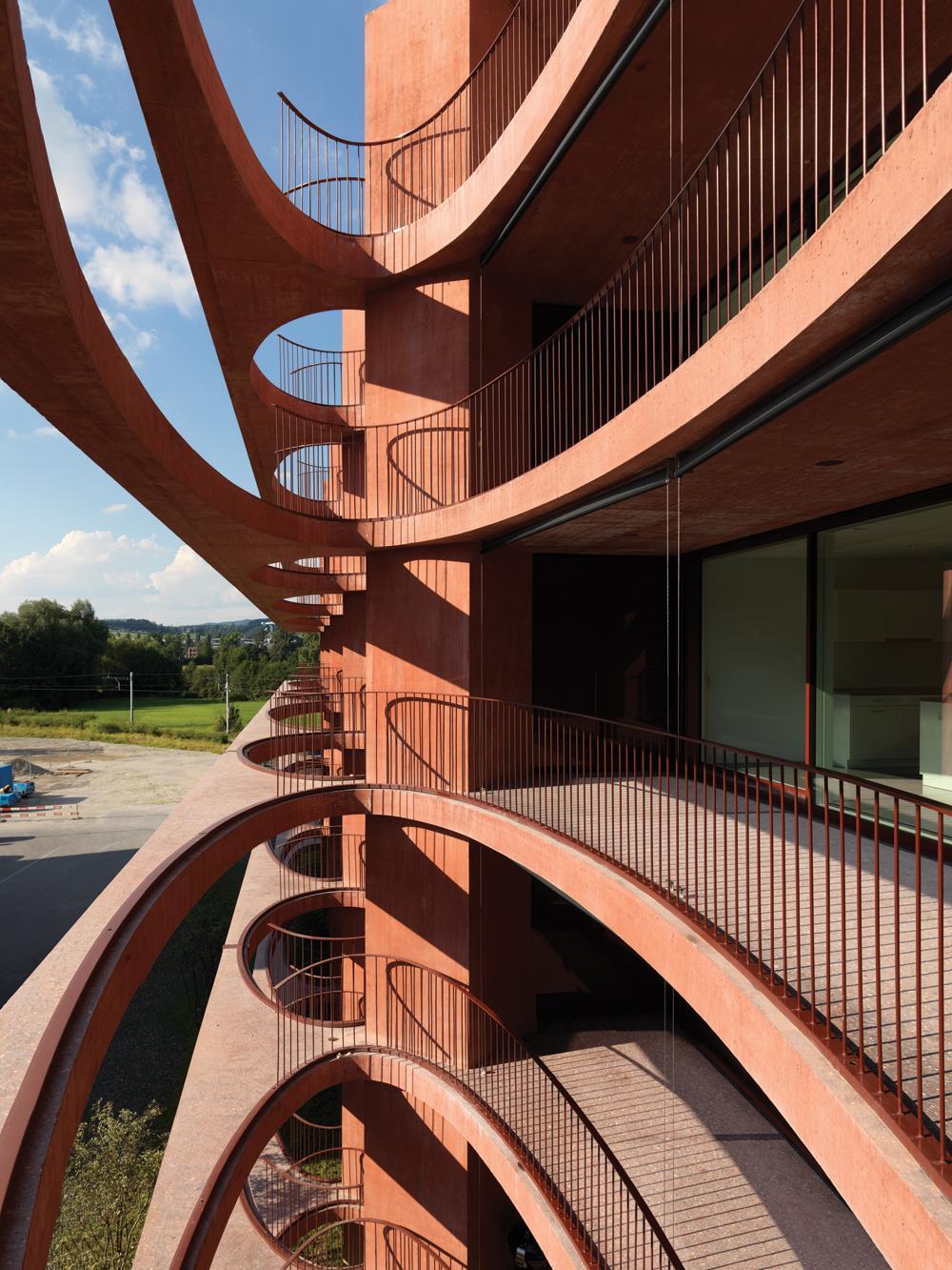 Zug Schleife Apartments By Valerio Olgiati Building