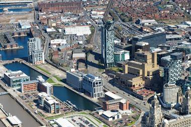 Northern fringe of Liverpool%27s Business District and Liverpool Waters