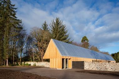 Hoskins Architects' visitors centre for Brodie Castle's 'Garden of Playfulness'