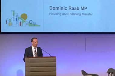 Dominic Raab speaking at the government Design Quality Conference