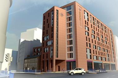 KKA Architecture's just-approved proposals for a new student block in Birmingham city centre