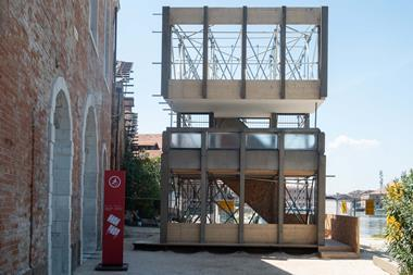 5 Reassembled fragment of the facade of Robin Hood Gardens at Venice Biennale 2018