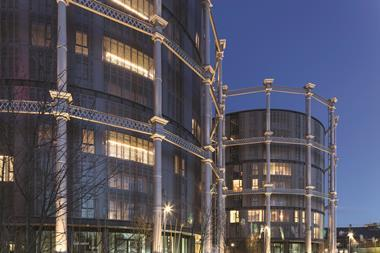 Exterior of gasholders london adjacent to the regent's canal architecture by wilkinson eyre @peter landers v2