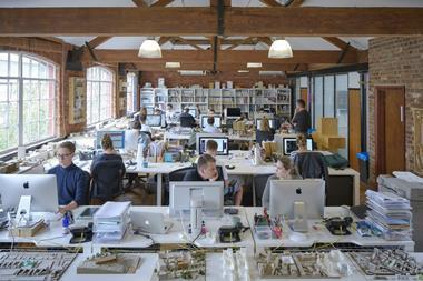 Staff at work in the east London studio of pH+