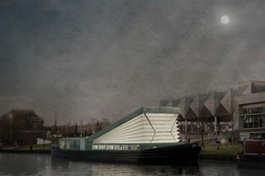 Floating church, London canal network, Denizen Works