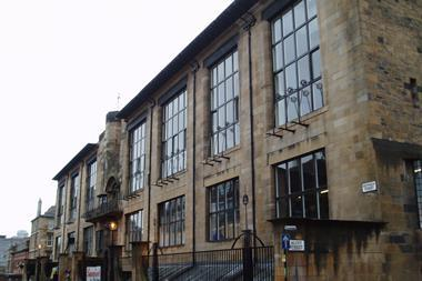 Glasgow School of Art, by Charles Rennie Mackintosh, pictured in 2005