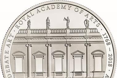 David chipperfield architects 250th anniversary royal academy silver proof coin