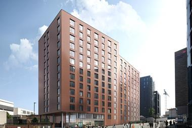 Ryder Architecture's PRS scheme, designed for Heber Street in the Newcastle Helix development