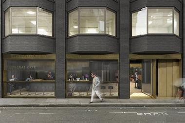 Consented plan for Spitalfields House - exterior street view