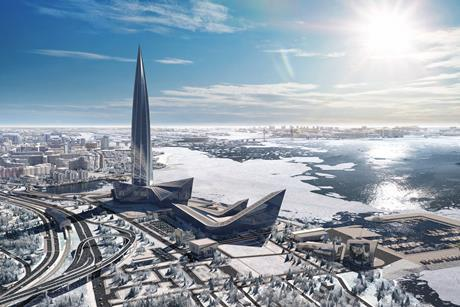 The Lakhta Center in St Petersburg