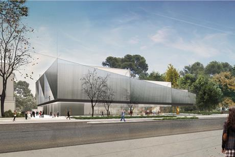Diller Scofidio & Renfro's proposals for the Adelaide Contemporary gallery, drawn up with Woods Bagot - Daytime View from North Terrace