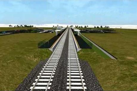 Artist impression of with the Regional Rail Link project in Victoria, which GHD is working on with Aecom
