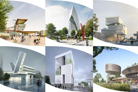 The shortlisted designs for University College Dublin's proposed Centre For Creative Design