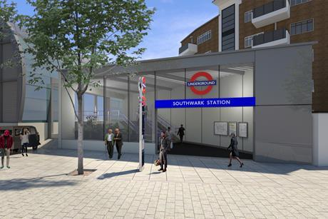 Acanthus LW's proposals for a new entrance to Southwark Tube Station