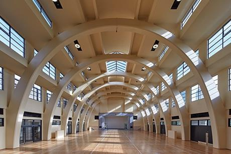 The former main pool hall has been restored into a soaring, multi-purpose space