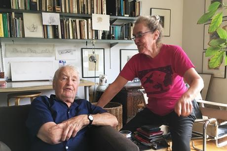 Neave Brown with his wife Janet Richardson at home in their Dunboyne Road house