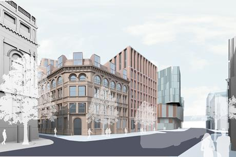 AHMM's Belfast Telegraph project - The Sixth - View looking north up Royal Avenue