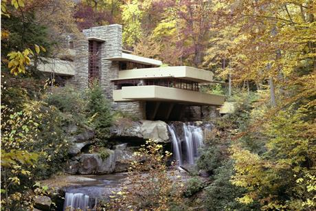 Fallingwater fall view from front