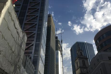 Allies & Morrison's 100 Bishopsgate and PLP's 22 Bishopsgate in the City of London