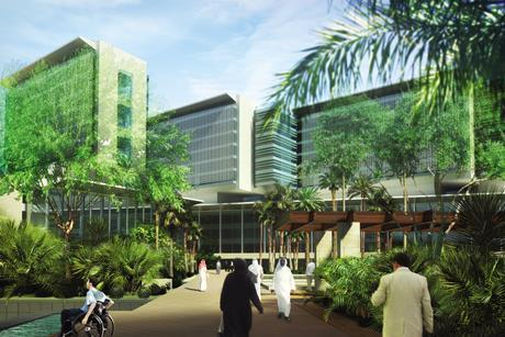 Aecom's masterplan for the King Khalid Medical City in Dammam, Saudi Arabia, is focused on a 1,000-bed hospital.