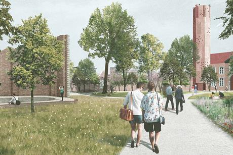 David Kohn Architects' scheme for the Hasselt University beguinage