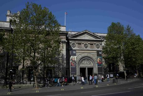 The National Portrait Gallery main entrance