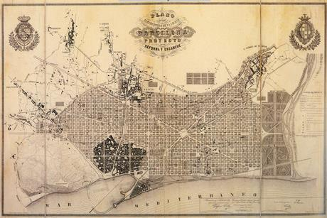 A historic plan of Barcelona's Ensanche - or Eixample - district