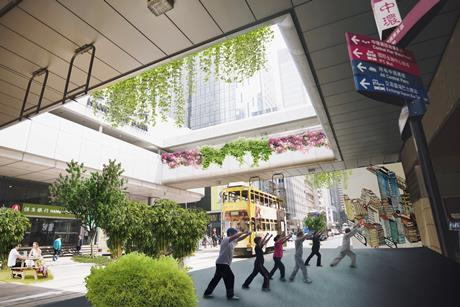 Proposals for the transformation of De Voeux Road on Hong Kong Island by an unnamed practice, not necessarily a shortlisted team.