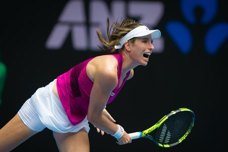 Johanna Konta in action at the 2016 Australian Open