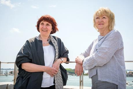 Shelley McNamara and Yvonne Farrell in Venice