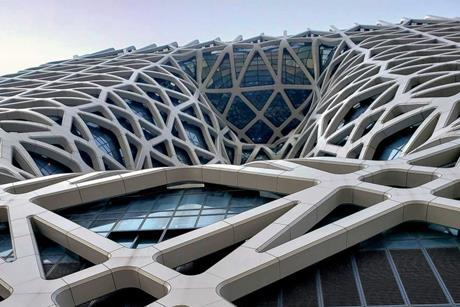 Exterior of the Morpheus Hotel in Macau, designed by Zaha Hadid Architects and delivered in conjunction with BuroHappold