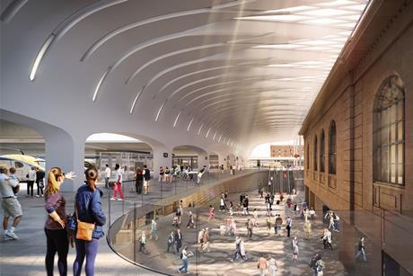 John McAslan & Partners and Woods Bagot's Sydney Central Metro Station concourse