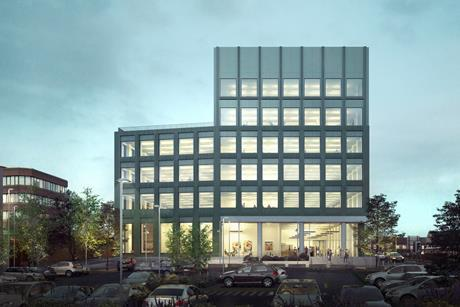 Proposals for Harrow Council's new civic centre, drawn up by a team led by Gort Scott Architects