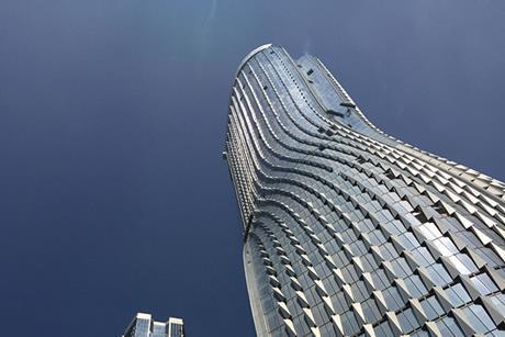 UN Studio's Raffles City development, under construction in Hanghzou