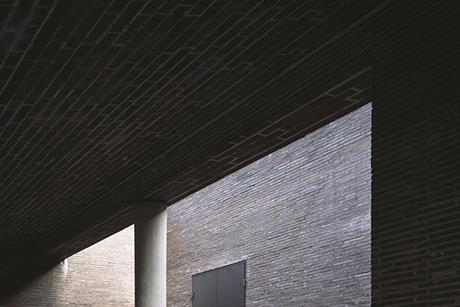 The new, brick-clad crematorium at  Stockholm's Woodland cemetery, now a Unesco World Heritage Site