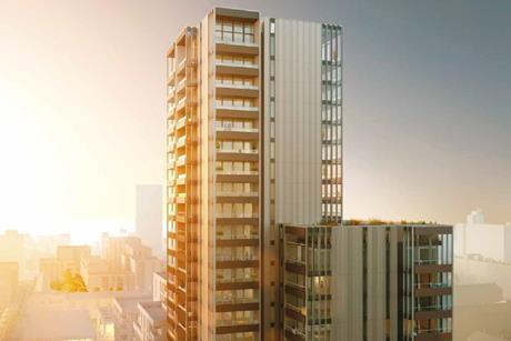Sheppard Robson's 25-storey tower, earmarked for the redevelopment of Chrisp Street Market in east London