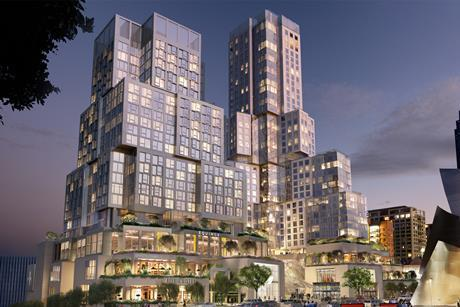 Gehry Partners' The Grand seen from First Street