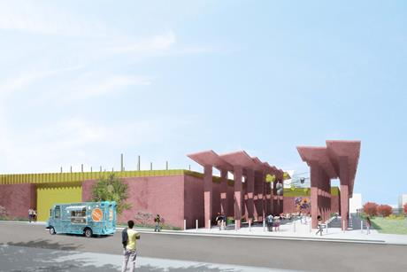 Adjaye Associates' Fairmount Heights switching station art wall