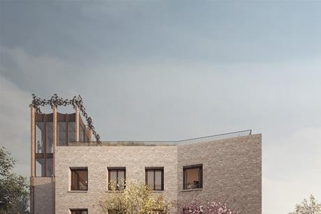 Entrance view of Gort Scott's recently-approved proposals for St Hilda's College in Oxford