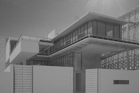 Elsie Owusu Architects - Lagos house for Yinka Shonibare - render
