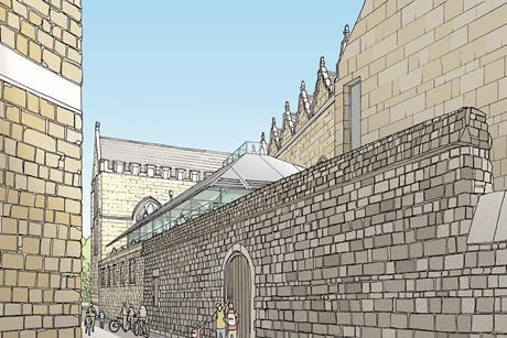 Oriel College design competition entry by Allies and Morrison