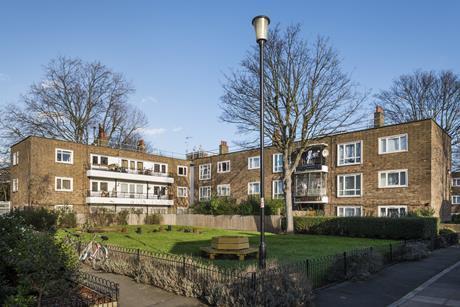 Gibberd's Somerford Grove in Hackney (1945-9)