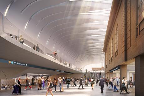 The metro concourse at Central Station in Sydney, under proposals by John McAslan & Partners, Woods Bagot and Laing O'Rourke