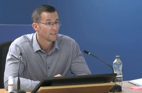 Daniel Anketell-Jones, former technical manager at Harley Facades, gives evidence to the Grenfell Tower Inquiry on 15 September 2020