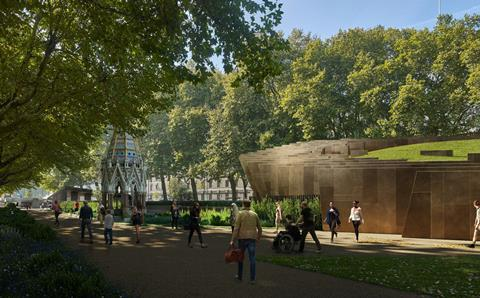 Adjaye Associates' revised entrance pavilion to the proposed National Holocaust Museum