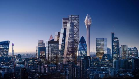 DBOX_Foster + Partners_The Tulip_Cluster_Dusk