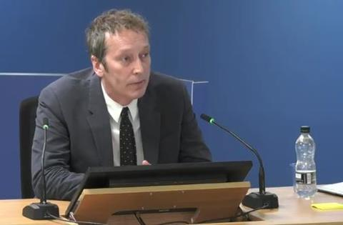 Peter Maddison gives evidence to the Grenfell Tower Inquiry on 26 October 2020