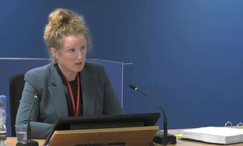 Grenfell Tower Inquiry expert witness Dr Barbara Lane gives evidence on 28 October 2020